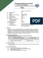 Silabo Analisis y Diseño de Sistemas