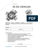 Pauta SIMCE8º Ciencias Septiembre