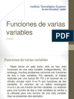 Funciones de Varias Unidad 4