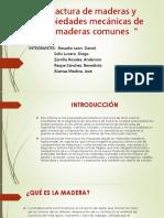 Fractura de Maderas y Propiedades Mecánicas