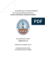 Silabus Medicina II 2017-II Dr. Cilliani