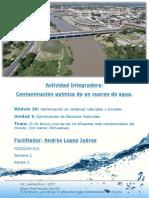 Actividad Integradora 1 Contaminación química del agua M20S1
