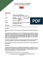 DC United Stadium - OCFO Fiscal Impact Statement for Development Act of 2014