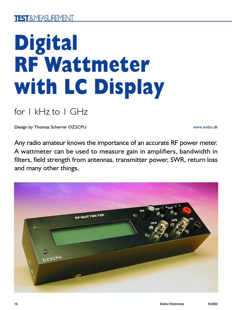 digital wattmeter.pdf | Decibel | Amplifier