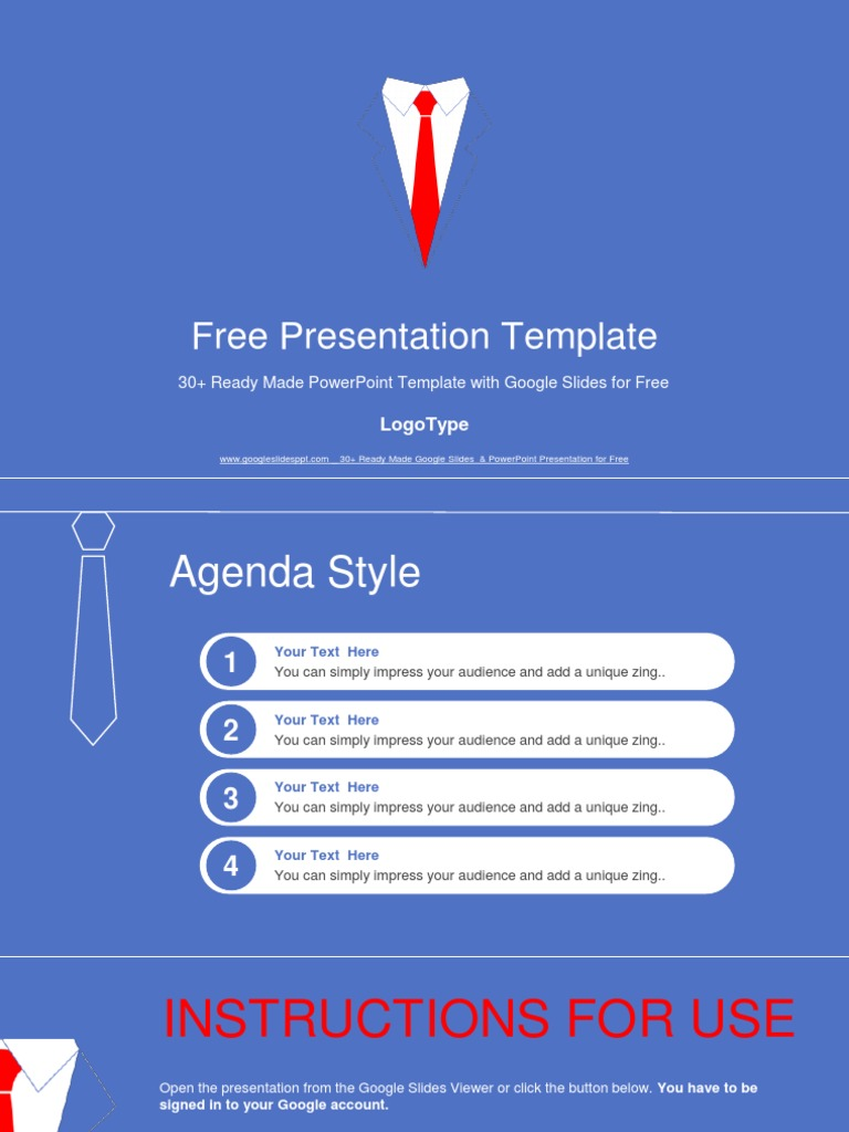 businessman tie concept google slides presentation photograph
