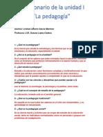 cuestionario pedagogia