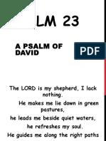 PSALM 23 Powerpoint