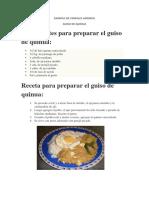 Ejemplo de Cereales Andinos