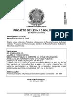 PL 5.864 2016 - Carreira RFB