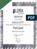 Sertifikat Gloria