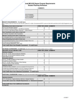 Prof MCS-DS Degree Program Worksheet
