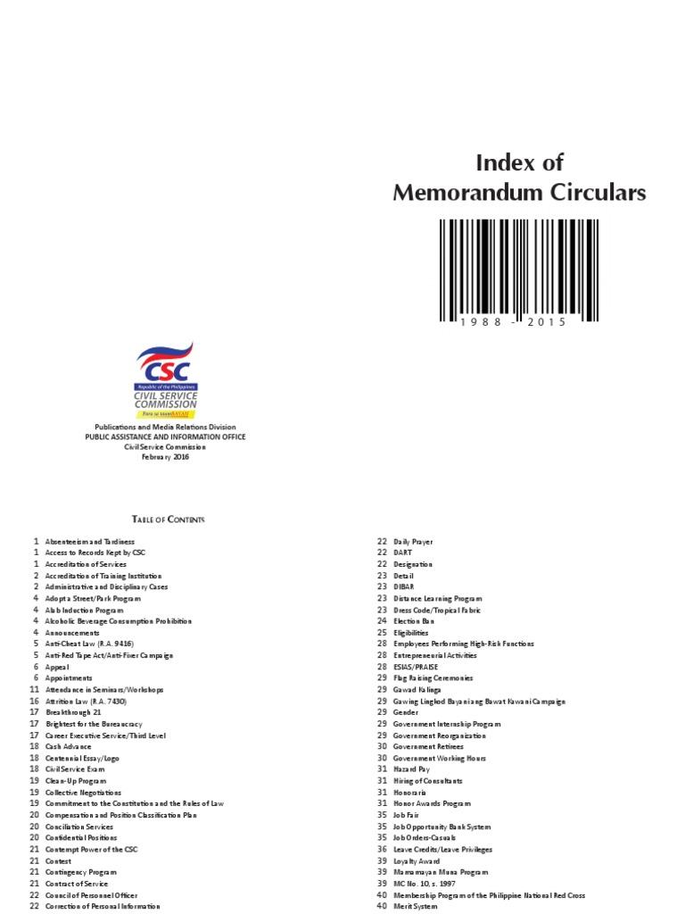 Index of Memorandum Circulars 1988-2015.pdf