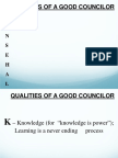 Topic 5 Qualities of a Good Councilor
