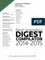 BOC 2015 Recent Jurisprudence Digests Compilation (2014-2015)