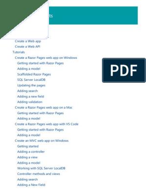 Introduction to ASP NET Core   Microsoft Visual Studio
