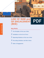 MSL 401 Values and Ethics Section 01 - Law of War and Rules of Engagement (ROE)