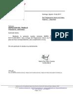 Carta Inspección Del Trabajo Entrega Reglamento Interno
