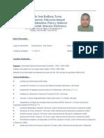 Curriculum Fernando José Bellizia Tovar