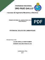 Aerogeneradores Lab de Circuitos II UNPRG
