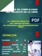 Niveles Complejidad Paciente Urpa Lic Arana Ult