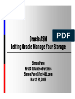 ASM Letting Oracle Manage Your Storage