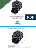 Manual Reloj Espia Hd II
