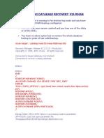 Noarchivelog Database Recovery via Rman