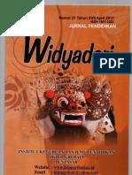 Jurnal Widyadari Nomor 21 Tahun XVII April 2017