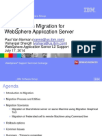 Configuration Migration for WebSphere Application Server Paul Vishav 07-09-2014