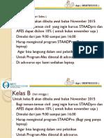 Kursus Staadpro Dan Afes Profesional