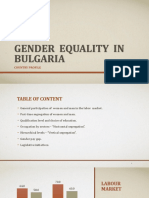 Gender Equality in Bulgaria