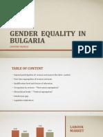 Gender Equality in Bulgaria