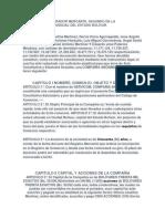 Acta Contitutiva Formato