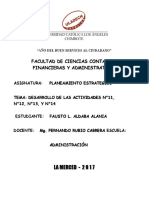 PLANEAMIENTO ESTRATEGICO - DESARROLLO DE LAS ACTIVIDADES N°11, N°12, N°13, Y N°14