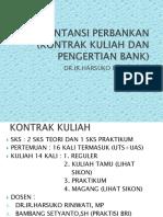 1. Kontrak Kuliah Dan Definisi Perbankan