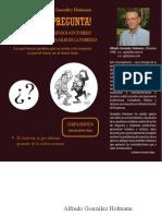 Libro La Gran Pregunta de Alfredo Gonzalez Holmann