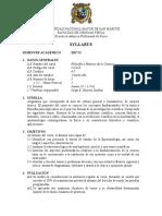 Filosofia y Teoria de La c. Plan 2017, Prof. Jorge Huayna, Sem. 2017-2
