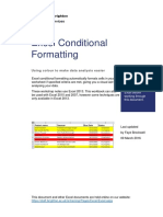 Excel Conditional Formatting (PC)