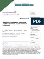 Hemangioendotelioma Epitelioide Hepático Primario_ Un Simulador de Metástasis