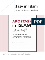 Books-In-brief Apostasy in Islam a Historical and Scriptural Analysis