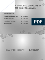 Application of partial derivative in business and economics