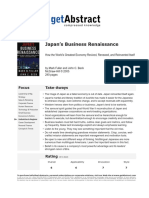 Japan's Business Renaissance (5811)