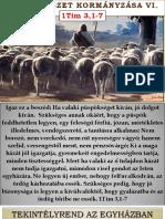 Gyülekezeti Kormányzás VI.