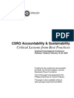 CSRO Accountability & Sustainability