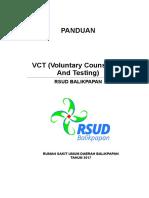 Panduan VCT RSUD Balikpapan