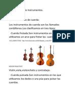 Clasificación de Instrumentos 2