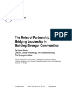 The Roles of Partnership and Bridging Leadership in Building Stronger Communitites