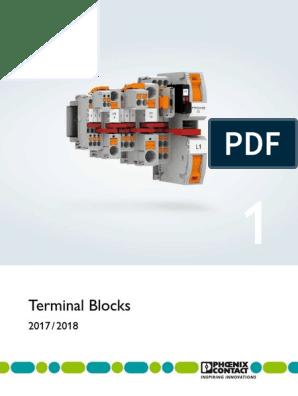 50A *NEW BOX OF 50* Phoenix Contact UT6 Feed Through Terminal Blocks; 600V