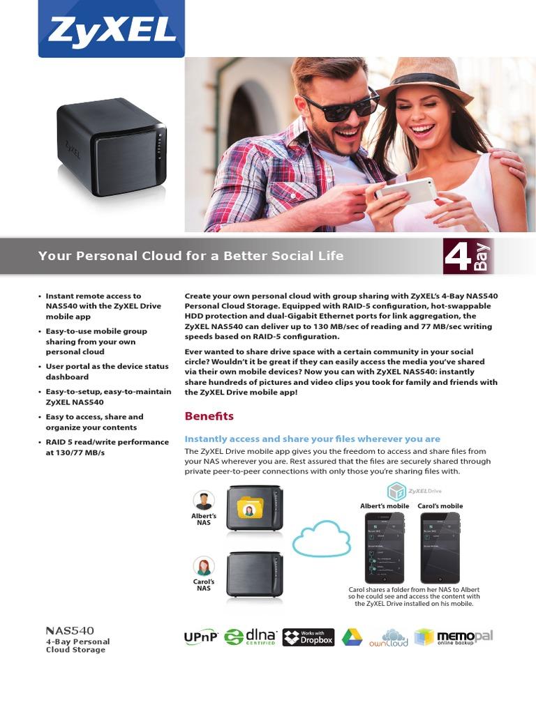 ZyXEL NAS540 | I Cloud | Apple Tv