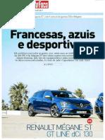 """RENAULT MÉGANE SPORT TOURER 1.6 dCi 130 GT LINE FRENTE AO PEUGEOT 308 SW NA """"AUTO FOCO"""""""
